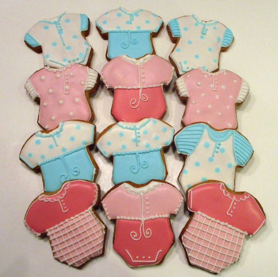 babygrow baby shower cookies