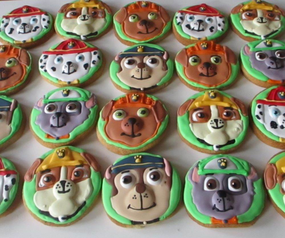 Paw patrol dog decorated cookies