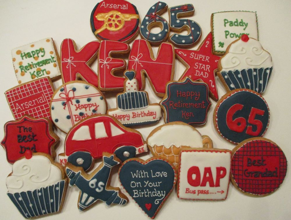 Retirement decorated cookies