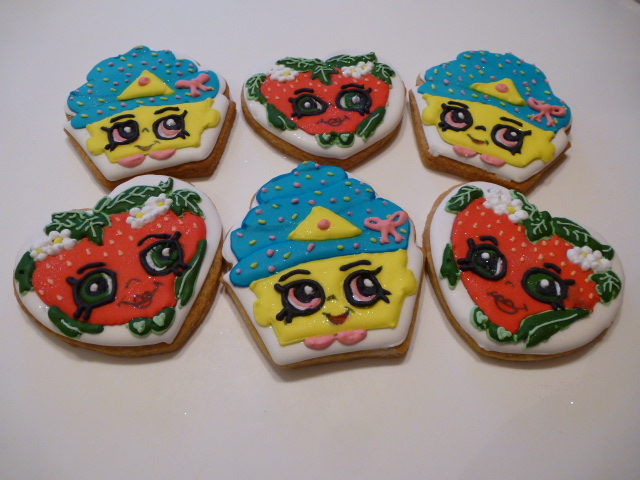 Shopkins decorated cookies